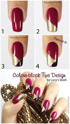 Nail Art Diy, Cool Nail Art, Color Block Nails, Colour Block, Nagel Hacks, Nail Art For Beginners, Nagellack Design, Fingernail Designs, Nagel Gel