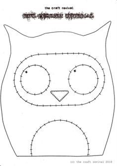 Owl Template for Applique {some others too}