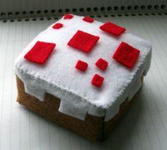 Minecraft Cake Plushie #howto #tutorial