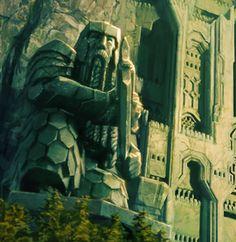 Dwarven Statues Art | Weta The Hobbit The Front Gate to Erebor Environment