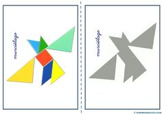 Tangram, figuras para imprimir online pretendo facilitar información y aportar material educativo que he elaborado para descargar e imprimir. Kindergarten Centers, Math Centers, Origami, Mandala, Quilts, Education, Logos, Pattern, Puzzles