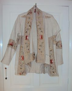 jacket from embroidered tablecloth