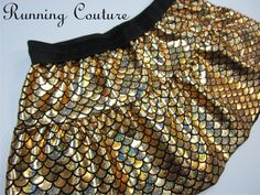 Adella Ariel's sister inspired gold fish scale print shimmery Running Misses two tier skirt.  available  in magenta, green, silver, royal by RunningCouture on Etsy https://www.etsy.com/listing/265244367/adella-ariels-sister-inspired-gold-fish