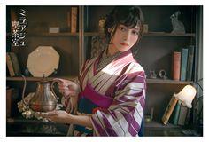 Taisho romance inspired retro photoshoot by - tanuki☼kimono Traditional Kimono, Traditional Outfits, Japanese Kimono, Japanese Girl, Japanese Beauty, Asian Beauty, Asian Hotties, Japanese Outfits, Yukata