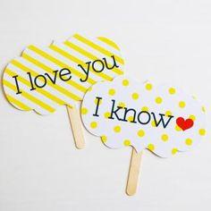 フォトプロップス【I love you / I know】