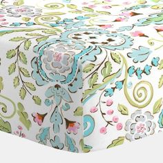 Love Bird Damask Crib Sheet