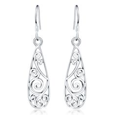 Cheap jewelry organization, Buy Quality jewelry bikini directly from China jewelry riser Suppliers: Promotion cute new retro women silver plated earrings high quality fashion classic jewelry Nickle free /antiallergic Vintage Earrings, Women's Earrings, Color Plata, Simple Jewelry, Plaque, Silver Color, Dame, Wedding Jewelry, Fashion Jewelry