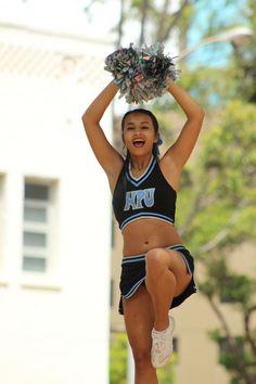 HPU Cheer Team performs at Intercultural Day. Photo by Steven Lum.