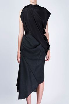 USSR Drape Skirt by Ellery - Maximillia eBoutique