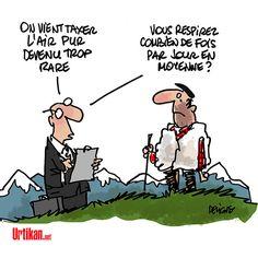 La pollution de l'air en France coûterait 100 milliards d'euros par an - Dessin du jour - Urtikan.net