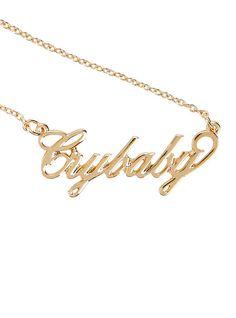 Melanie Martinez Crybaby Nameplate Necklace,