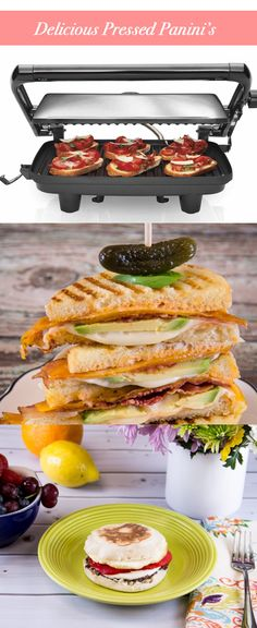 Press your way into these mouth water sandwiches with this Panini Press!