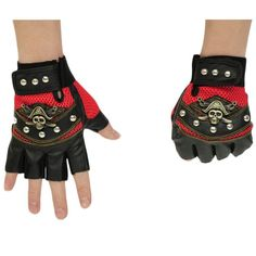 MatchLife Men's New Punk Style Gloves Mens Mittens Style1 Red