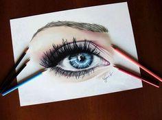 grafika drawing, eye, and art