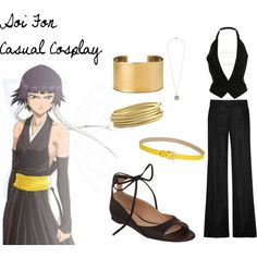 Soi Fon from Bleach Casual Cosplay Easy Cosplay, Casual Cosplay, Cosplay Outfits, Cosplay Ideas, Anime Inspired Outfits, Bleach Cosplay, Fandom Outfits, Geek Fashion, Polyvore Outfits
