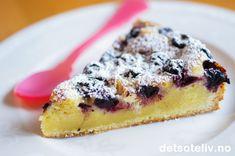 Hvit sjokoladekake med blåbær og sitron   Det søte liv