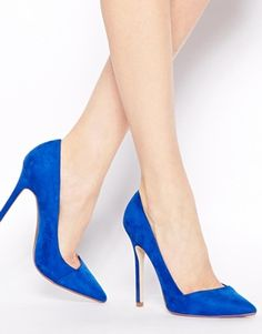 Buy ASOS PENSIVE Pointed High Heels at ASOS. Get the latest trends with ASOS now. Leighton Meester, Pretty Shoes, Beautiful Shoes, Azul Royal, Royal Blue, Baskets, All About Shoes, Asos, Blue Heels