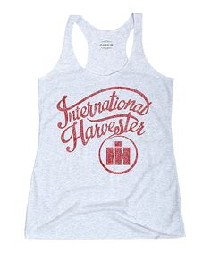 Look what I found on #zulily! Heather White Logo Racerback Tank - Women by International Harvester #zulilyfinds