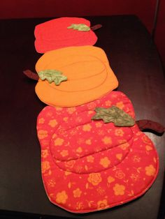 Fall/Pumpkin Themed Table Runner Handmade with by MayCauseMemories