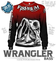 FISHBUM Fishing Clothing Presents – Bass Wrangler Fishing Jersey