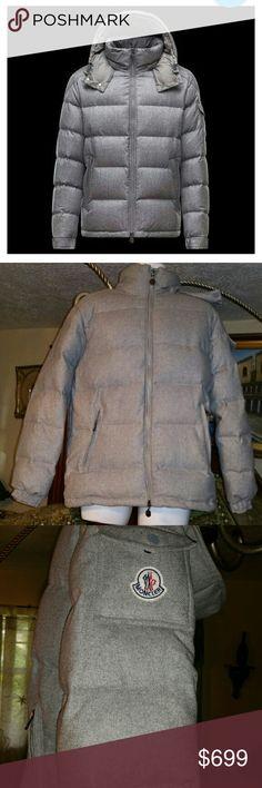 MONCLER Mongenevre Quilted Men's Size 4 MRSP 1049 MONCLER Mongenevre Quilted Men's Size 4 Wool Down Hooded Jacket  Authentic $1365 EUC Moncler Jackets & Coats Puffers