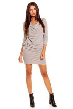 sexowna szara sukienka
