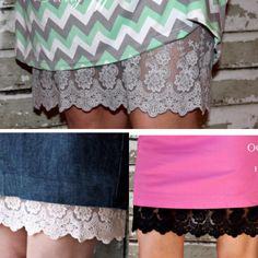 These skirt extenders are the best solution for those skirts and dresses that are just a little too short!! Only $15.99 with 4 colors to choose from!!