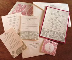 just beautiful!! motif, cohesive motif, invitation set by invitations by ajalon