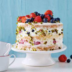 Naked Cake mit Beeren Rezept   Weight Watchers