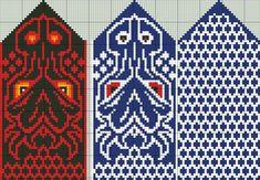 Knitted Mittens Pattern, Knit Mittens, Knitted Gloves, Knitting Socks, Knitting Charts, Knitting Patterns Free, Free Knitting, Dragon Pattern, Filet Crochet