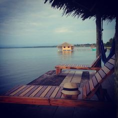 Our favorite pre-dinner, sunset-watching, cocktail-drinking spot at Casa Cayuco | Just Back from Panama | www.fathomaway.com