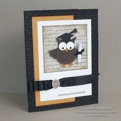 H2 Designs: Inkspirations Sketch Challenge #53 - Graduate Owl
