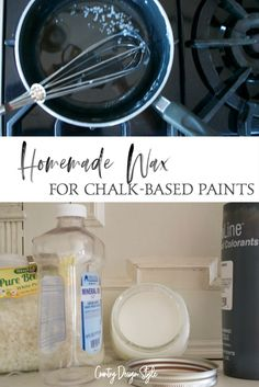 Learn the steps to make your own wax for chalk painting. Country Design Style #homemadewax #chalkpaintwax