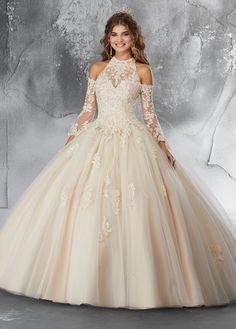 Sleeved Lace Quinceanera Dress by Mori Lee Vizcaya 89192 Bell Sleeved Lace Quinceanera Dress by Mori Lee Vizcaya Lee Vizcaya-ABC Fashion Xv Dresses, Mori Lee Dresses, Quince Dresses, Fashion Dresses, Prom Dresses, Wedding Dresses, Champagne Quinceanera Dresses, Pretty Quinceanera Dresses, Quinceanera Ideas