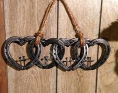 Beautiful Horseshoe Heart With Cross Wind Chimes by DoubleMFarms
