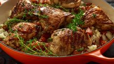 Paprikové kura a ryža z jedného hrnca Honey Glazed Chicken, Honey Garlic Chicken, Meal Ready To Eat, Meat Delivery, Baked Chicken Breast, Gumbo, Chicken Thighs, How To Cook Chicken, Slow Cooker Recipes