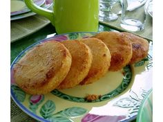 Bammy also known as Casava bread. Pamela soaked it in coconut milk  before frying...yummy