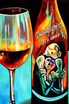 Oswaldo Guayasamin Wine Label by k Madison Moore