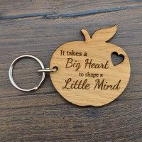 It Takes A Big Heart Keyring - End Of Term Teacher Appreciation Leaving Gift