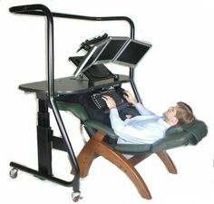 I feel like this could be a dream come true... No more neck and back pain from sitting at the computer
