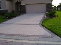 Concrete Driveway With Stone Dividers   Google Search