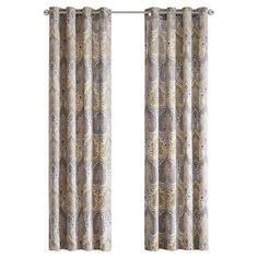 Add a pop of pattern to your living room or master suite with this eye-catching cotton curtain, showcasing a paisley motif in yellow.  ...