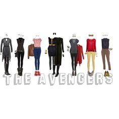Outfits inspired by The Avengers. Nerd Outfits, Disney Bound Outfits, Fandom Outfits, Cool Outfits, Fashion Outfits, Marvel Inspired Outfits, Character Inspired Outfits, Nerd Fashion, Fandom Fashion