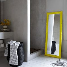 Insanely cool bathroom. Can you do a stained & polished concrete wall and floor in a bathroom?