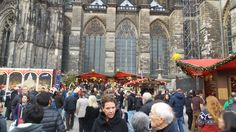 The Christmas Market at Cologne Cathedral.
