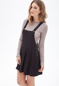 Polka Dot Overall Dress | FOREVER21 - 2000085046
