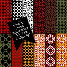 Instant Download Moroccan Designs Digital by CheriesArtsnCrafts, $3.25