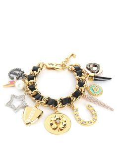 MULTI CHARM LEATHER & CHAIN BRACELET - Juicy Couture