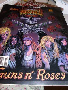 "COMICS COPPER AGE  ""REVOLUTIONARY COMICS"" ""ROCK -N-ROLL"" ""GUNS N' ROSES""  1990"