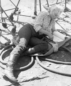 Marilyn during the filming of River of No Return in 1953.